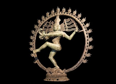 mahabharata: Hindu statue of Shiva dancing over maya demon