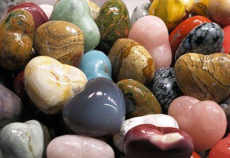 Set of colorful semiprecious stones photo