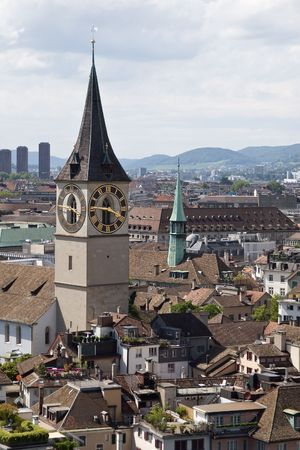 St. Peters church in Zurich (Switzerland) photo