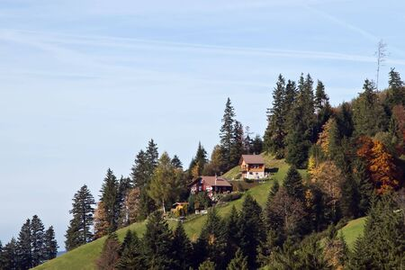 Farm house in swiss alps Stock Photo - 5194610