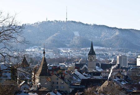 Zurich cityscape in winter (December 2008) Stock Photo - 5194641