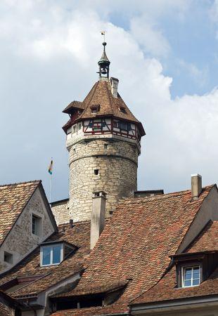 Fragment of Munot fortification (Schaffhausen, Switzerland) Stock Photo - 5194585