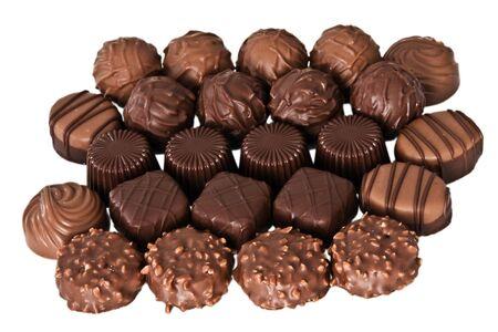 Set of chocolates isolated on white Stock Photo - 5380123