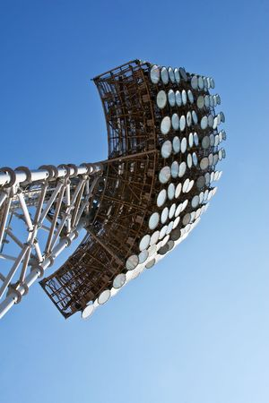 Array of the lamps on stadium photo