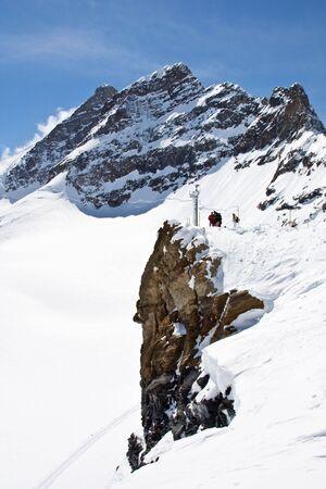 Winter landscape in the Jungfrau region photo