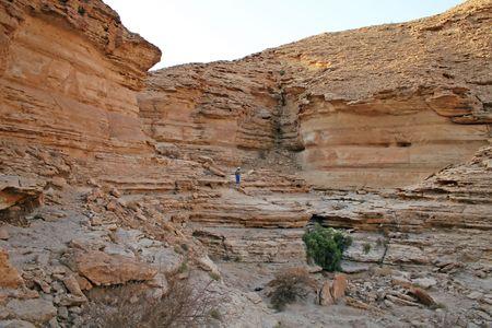 Stone desert near Riyadh, Saudi Arabia photo