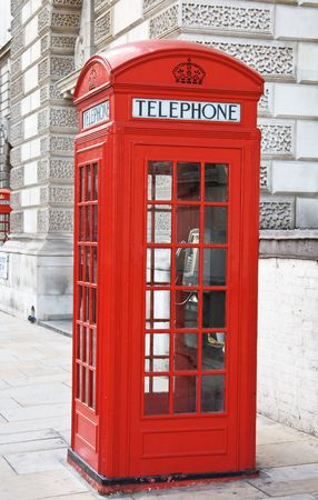 Famous red telephone booth in London, UK Stock Photo - 5648588