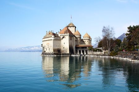 Chillon castle on the Geneva lake, Switzerland photo