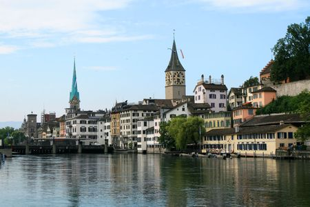 zurich: View of the Zurich donwtown (Switzerland, 2009)