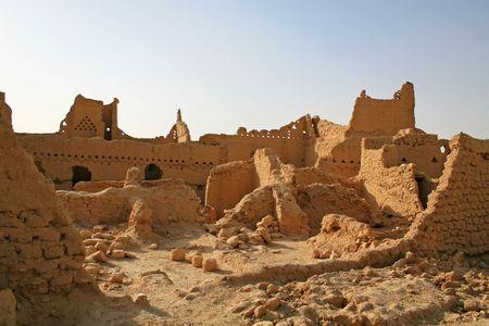 Ruins of Diriyah, old city near Riyadh, Saudi Arabia photo