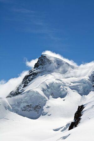 jungfraujoch: Winter landscape in the Jungfrau region Stock Photo
