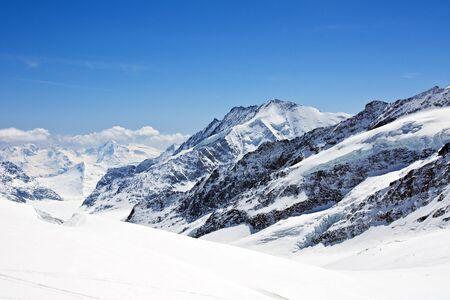 Winter landscape in the Jungfrau region Stock Photo - 6013942