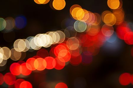 action blur: Night lights of the big city