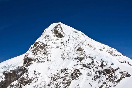 aletsch: Winter landscape in the Jungfrau region Stock Photo
