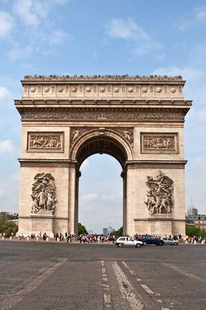 Arc de Triomphe from Avenue des Champs-Elysees photo