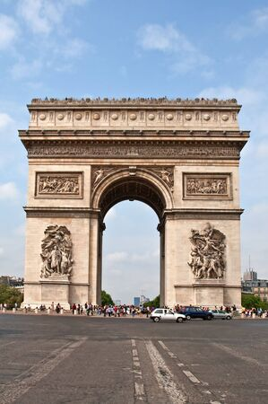 champs: Arc de Triomphe from Avenue des Champs-Elysees