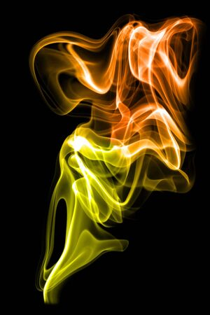 morphing: Colored smoke on the white background