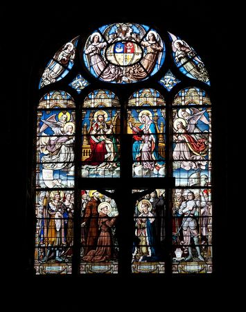 Stained glass window in Eglise Saint-Eustache church, Paris, France Stock Photo - 6262205