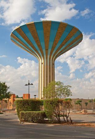 gcc: Famous water tower in the Riyadh city, Saudi Arabia Stock Photo