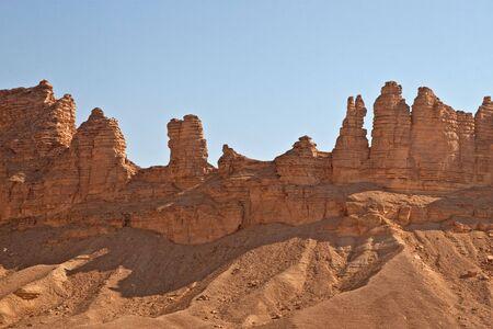 Clay rocks surrounding Riyadh city in Saudi Arabia                                photo