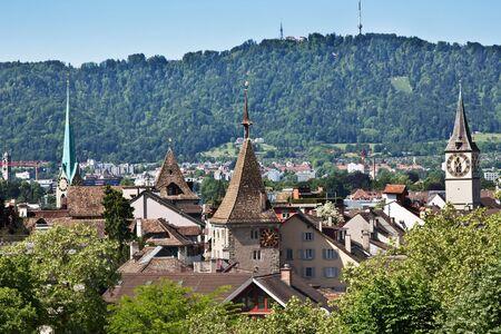 gabled: View of the Zurich donwtown (Switzerland, 2009)