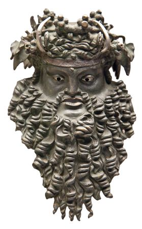 Dionysus mask (Greek god of vine) photo