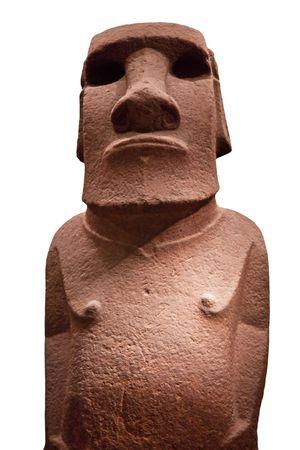 moai: Estatua de moai aislado en blanco