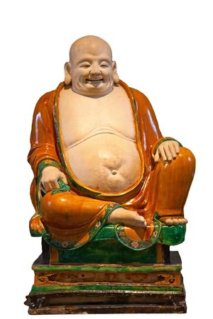 buddah: Chinese classical statue of Happy Buddah