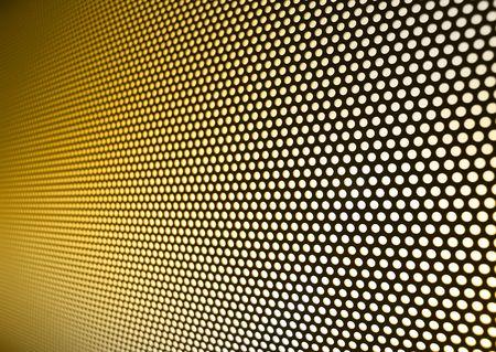 Yellow gold meshy metal background