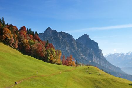 Autumn (indian summer) in swiss alps Stock Photo - 6654049
