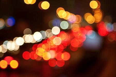 Lumières de la nuit de la grande ville