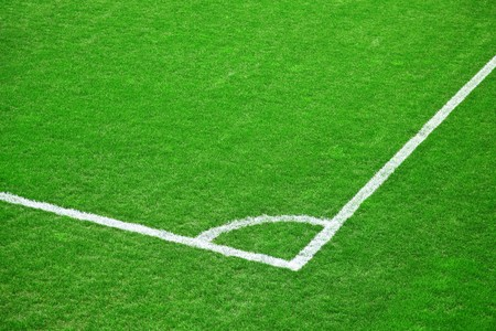 Green grass of the football (soccer) field Stock Photo - 7017710