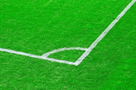 Green grass of the football (soccer) field photo