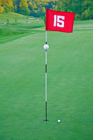 15th hole of the golf course photo