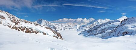 aletsch: Aletsch glacier (View from the Jungfraujoch)