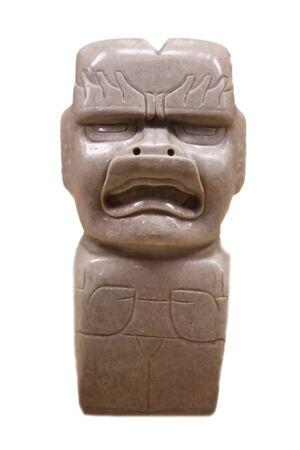 pre-columbian mexican art (man marble stutue) Stock Photo - 7404730