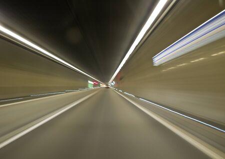 Going trough the underground tunnel (Gothard) photo