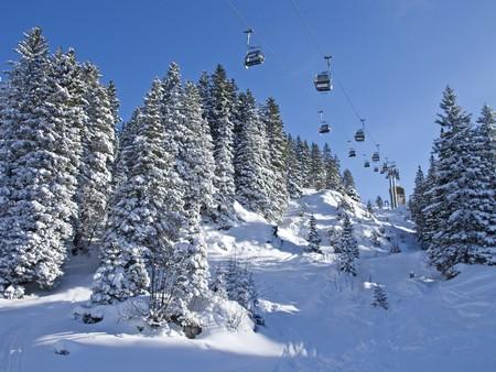 Slope on the skiing resort Melchsee-Frutt. Switzerland photo