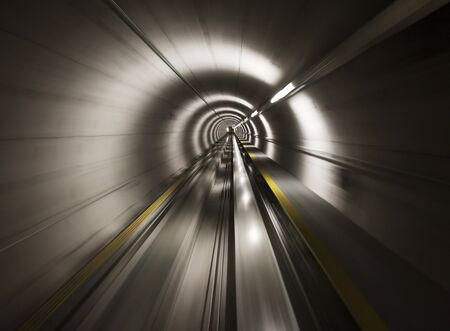 Going trough the underground tunnel (Zurich airport) photo