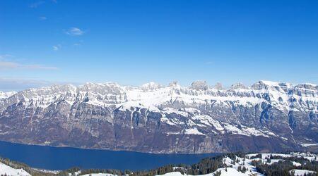 st gallen: Churfirsten mountain range(Canton Of St. Gallen, Switzerland)