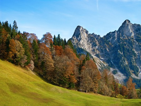 Late autumn in the swiss alps  photo