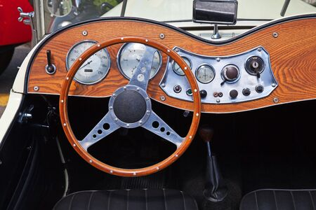 Dashboard of the vintage car photo