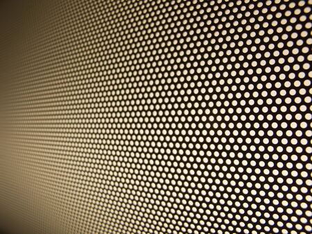 Metal mesh structure with shallow depth of field photo