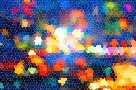 abstract colorful stained glass background photo