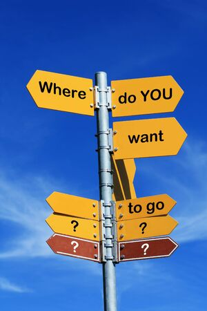 where to go: Direction sign