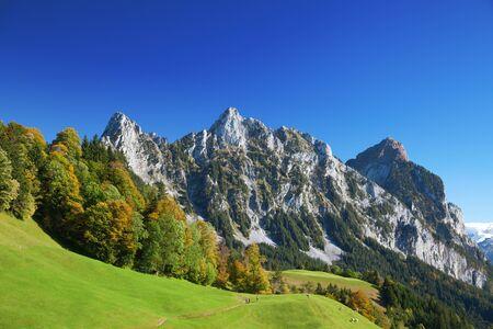 autumn scene: Autumn (indian summer) in swiss alps