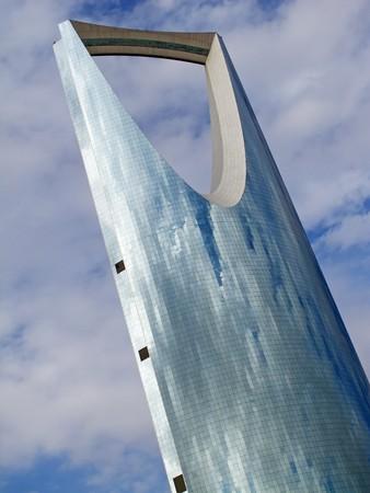 ksa: RIYADH - DECEMBER 22: Kingdom tower on December 22, 2009 in Riyadh, Saudi Arabia. Kingdom tower is main landmark of Riyadh city Stock Photo