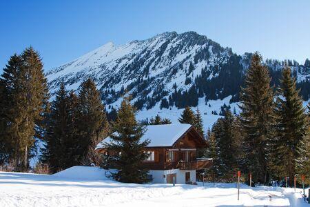 st gallen: Winter in swiss alps (Amden, St. Gallen, Switzerland)