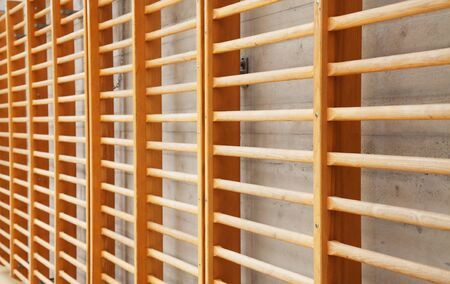 wall bars: Wall bars in the scool gymnastic hall