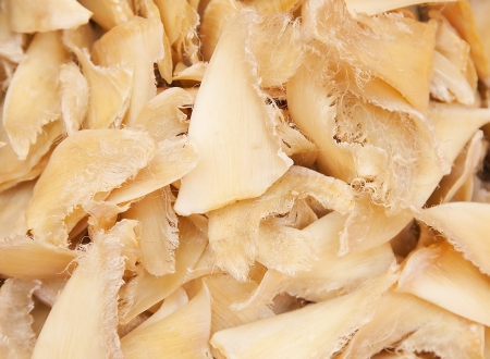 fins: Dried shark fins in the traditional chinese shop